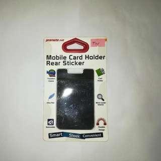 Mobile Card Holder Rear Sticker