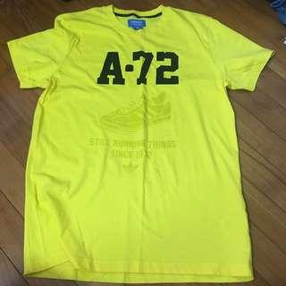 Bright Yellow Adidas Tee (UK M)