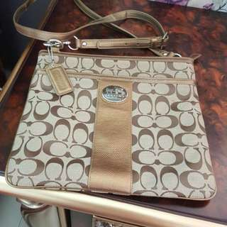 COACH Khakis Medium Cross Body Handbag