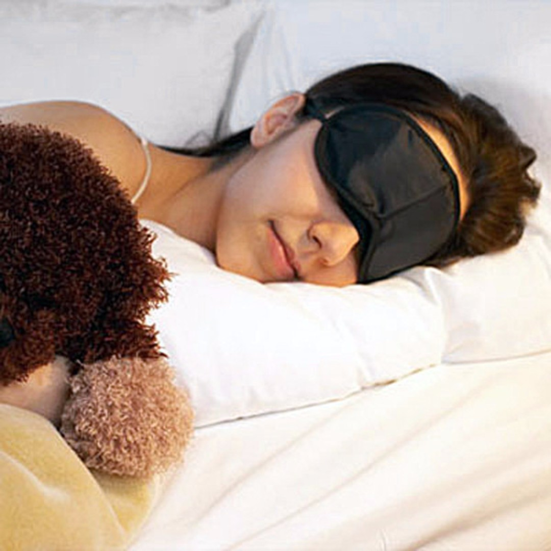 ($1.90) Black Soft Eye Mask Shade Cover (Sleep Travel Party, Event. Beauty, Health, Rest, Nap, Blindfold)