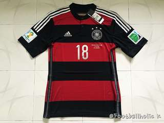 2014 GERMANY AWAY SHIRT 18. KROOS with World Cup Patches & MDT - BNWT