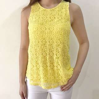 Yellow Laced Top