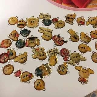 可愛得意emoji吊飾