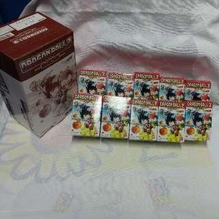 絕版全新 Bandai 龍珠 Z 食玩盒蛋連大細盒 10 件一套