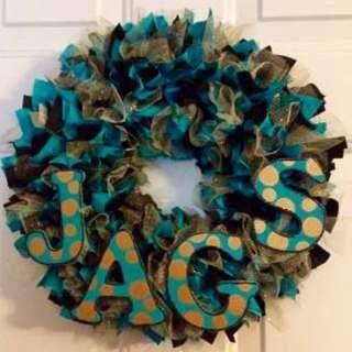Jacksonville Jaguars Handmade Wreaths