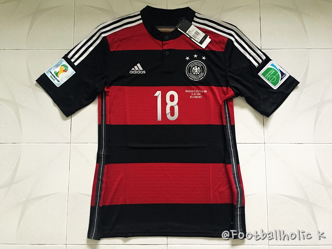 brand new 7d1ee c98e1 2014 GERMANY AWAY SHIRT 18. KROOS with World Cup Patches ...