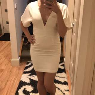 White Low Cut Dress