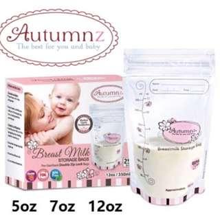 Autumnz 12oz Double ZipLock Breastmilk Storage Bag