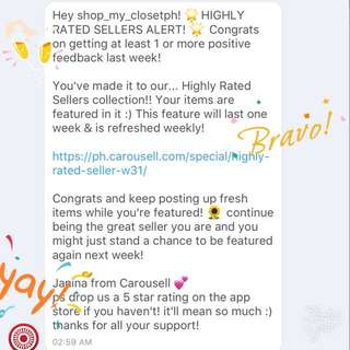 (7) HIGHLY RATED SELLER🎉