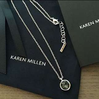 (NEW)Karen Millen Swarovski Crystal Dot Pendant Necklace