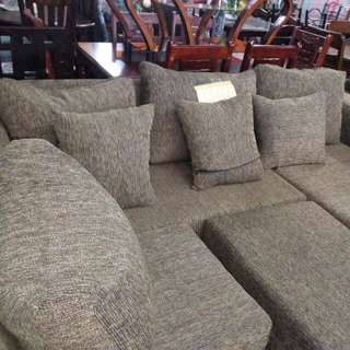 L-type Sofa..with Stool and 7 PCs Pillow