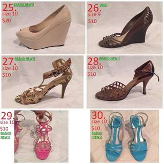 Women's Shoes (50 Different Pairs)