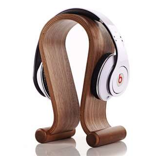Wooden Gaming Headphone Stand Headset Hanger Holder Over Ear real wood