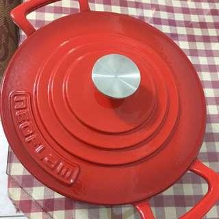 韓國NEOFLAM🍳🥘紅色24cm厚釜琺瑯鑄鐵湯鍋(含運費)