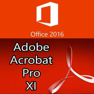 Office 2016 + Adobe Acrobat Pro XI (Genuine Activation Keys)