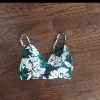 F21 Floral Cropped Bustier