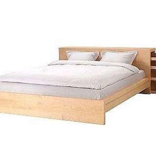 IKEA Malm Queen Bed (low) with Headboard