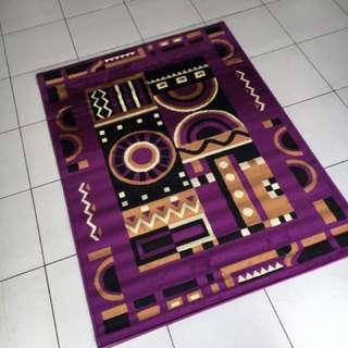 karpet permadani kode 162061 warna purple uk 115x155