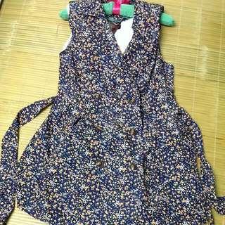 雙排扣花花洋裝