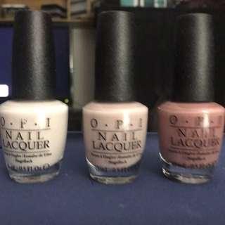 3 OPI Nail Colours