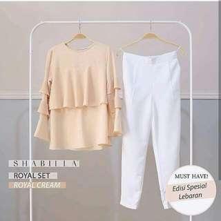 blouse dan pants shabilla butik