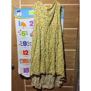 forever21 floral yellow dress