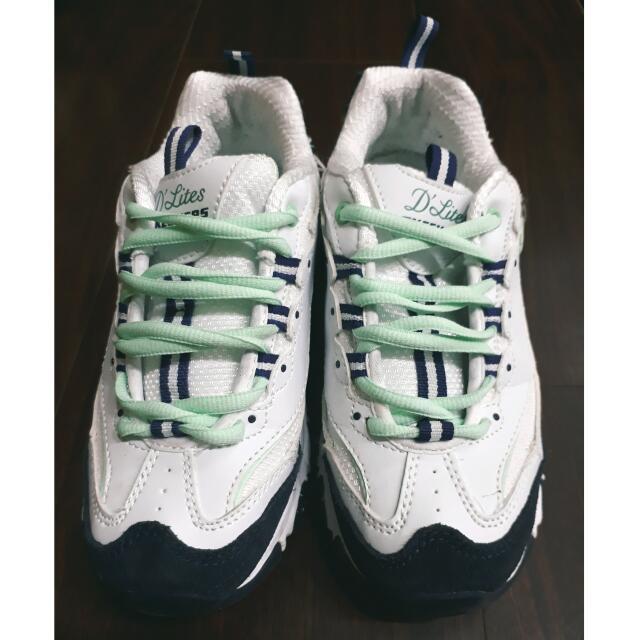 內增高藍綠配色運動鞋(36/23) #dlites #韓劇同款 #明星同款