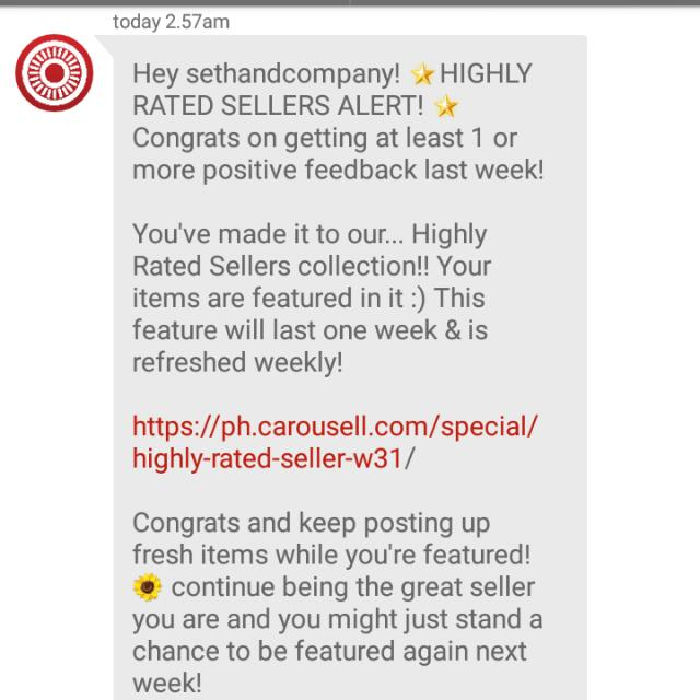(4th) Thank You My Buyers And Co-sellers! Thanks Carousell!