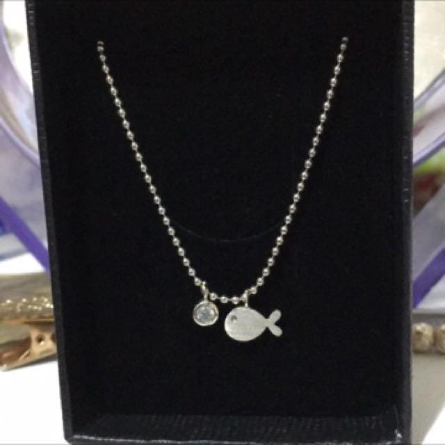 小魚925純銀項鍊