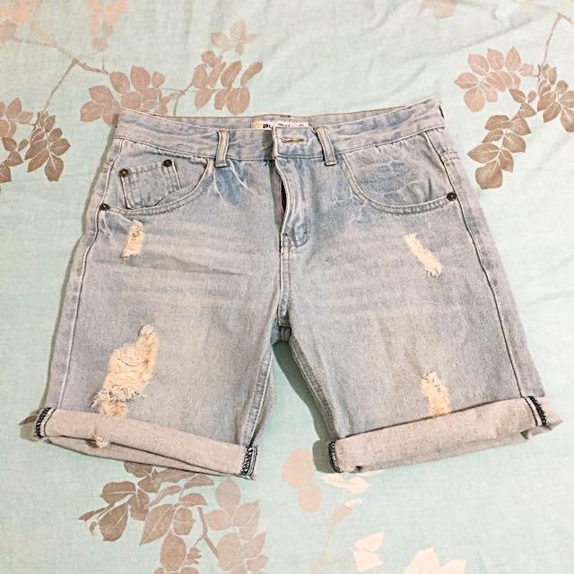 五分牛仔短褲