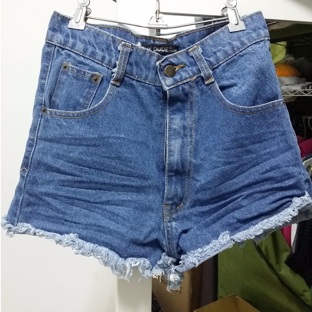 #手滑買太多 韓版低腰流行牛仔褲 女短褲