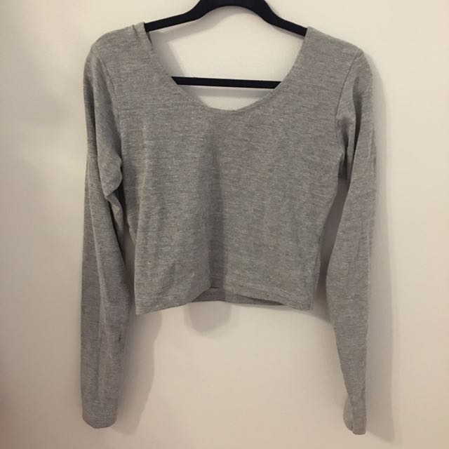 AA Grey Crop Top