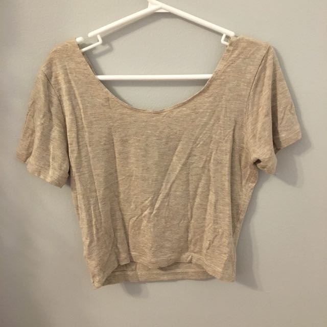 AA Oatmeal Crop Top