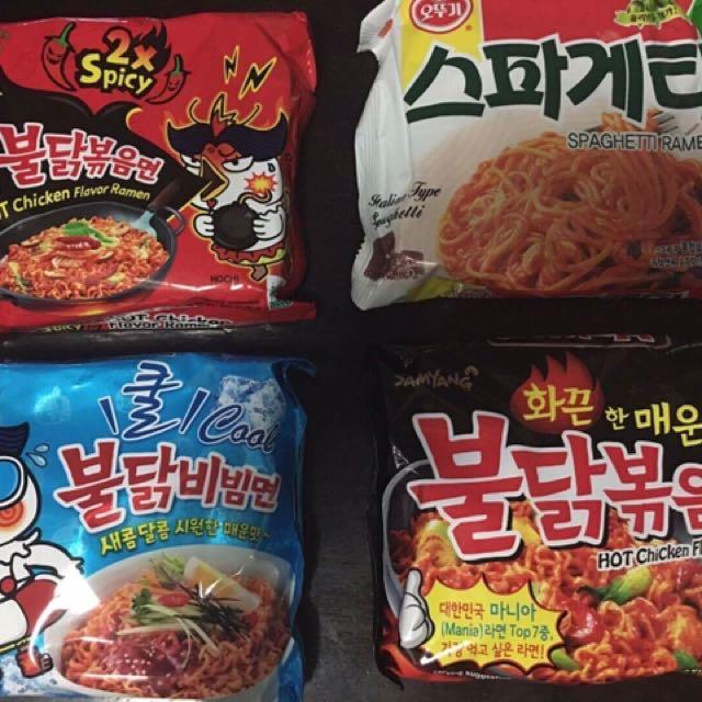 Assorted Korean Noodles
