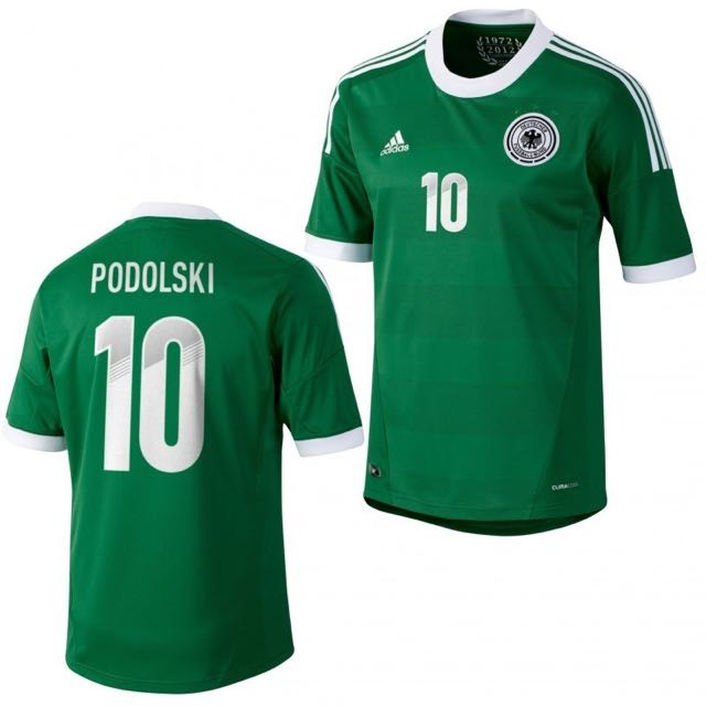 f2777e5b497 Authentic Germany National team Lukas Podolski Away Shirt