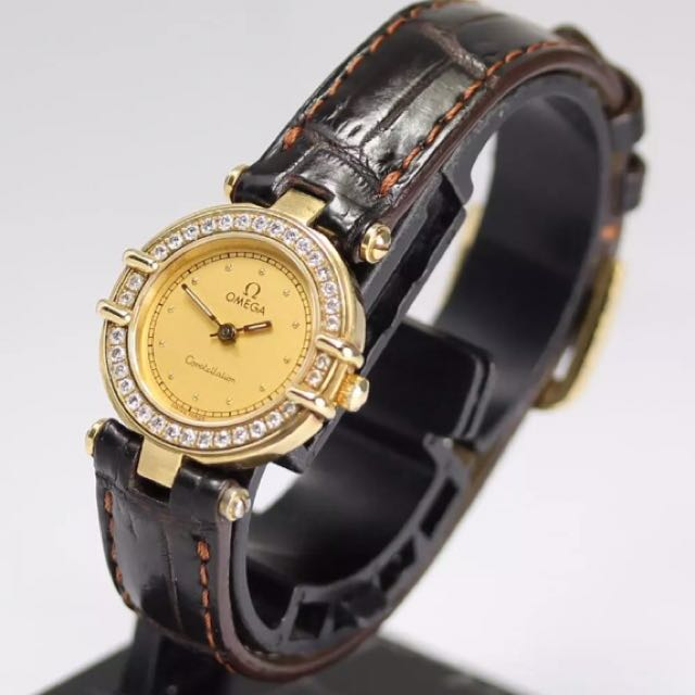 Authentic Vintage Solid 18k Gold Omega Ladies Watch With Real