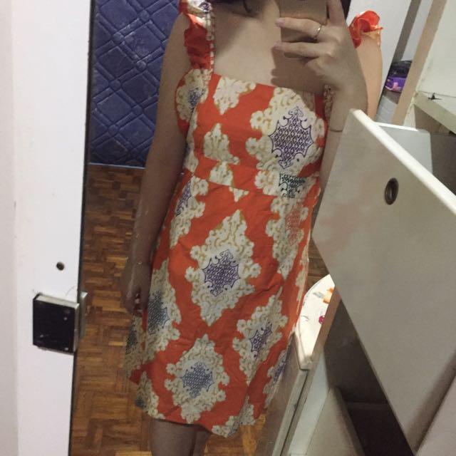 Baju Batik Orange