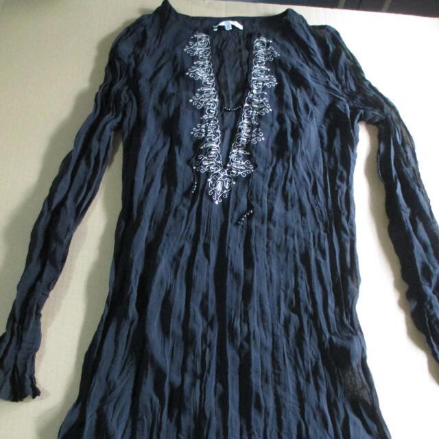 Black Sheer Dress (Long Sleeves)