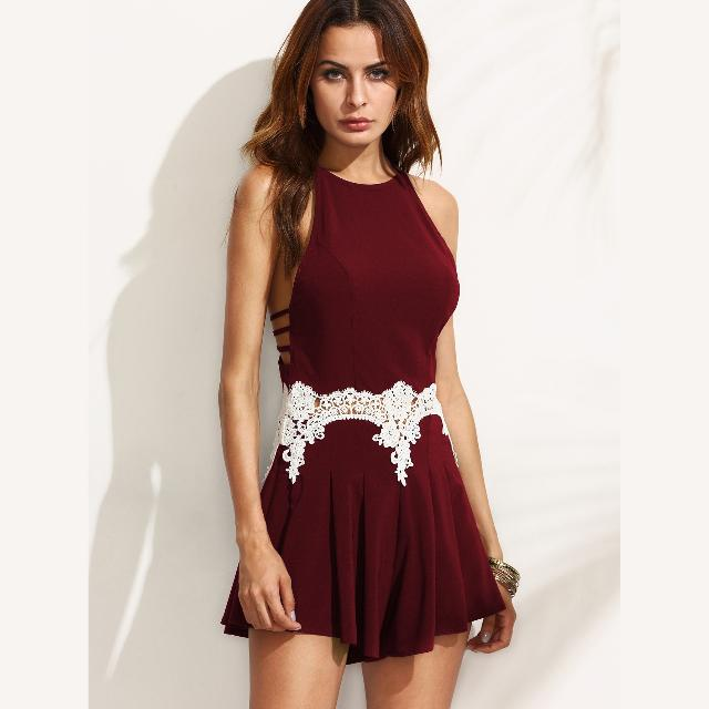 [Brand New!] Red Lace Racerback Romper