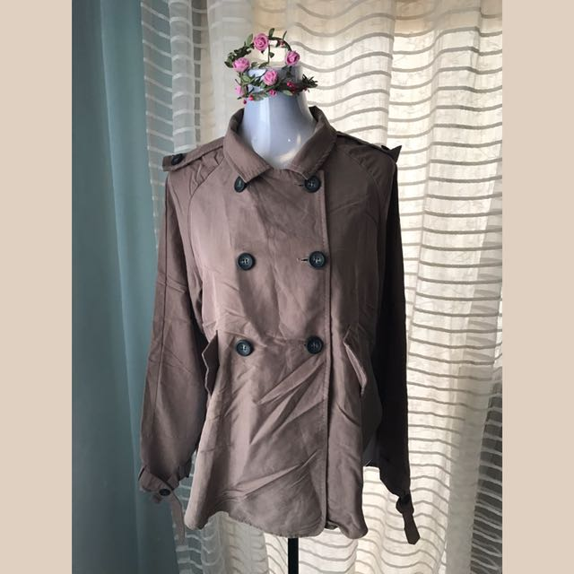 BROWN DOUBLE BREASTED JACKET