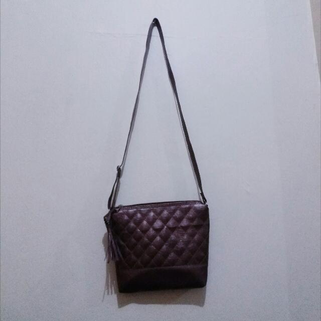 Brown Simple Sling Bag