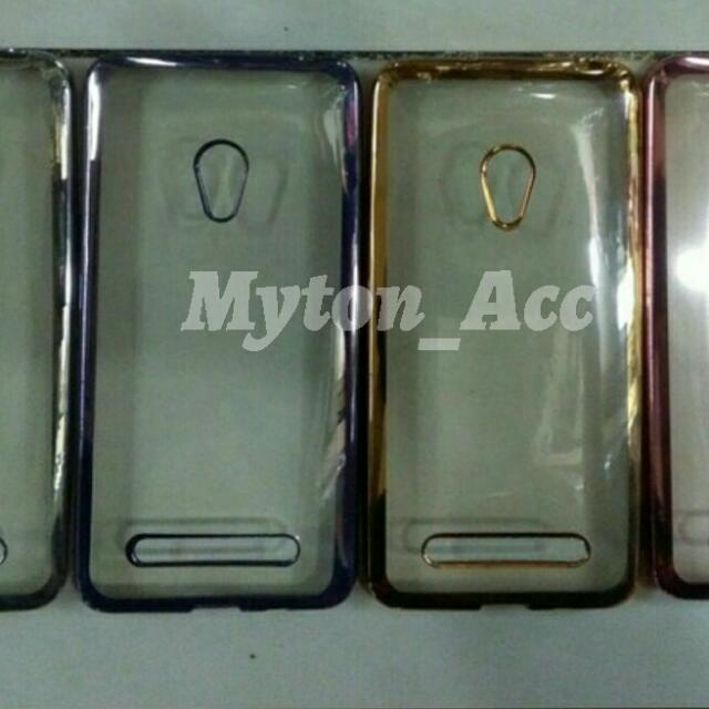 Case Chrome Softcase Ultrathin Plating List Shining Jelly Silicon Asus Zenfone 3 Max 5.2 Inch &