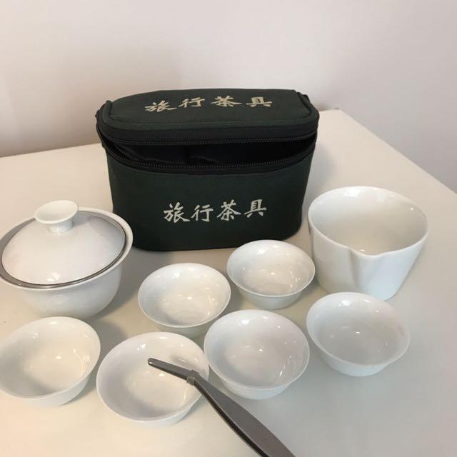 Chinese Tea Pot & Cup Set 旅行茶具一套