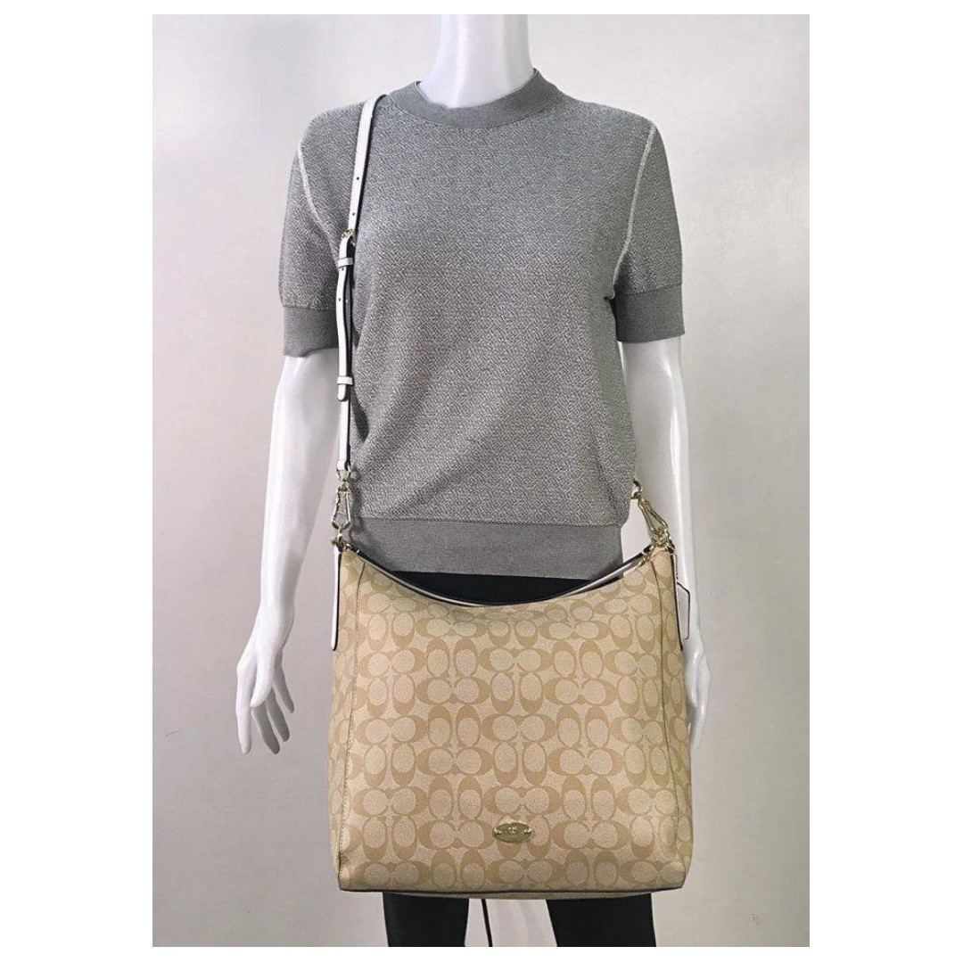 3a75e6a2c6 ... shop coach signature celeste convertible hobo bag online shop preorder  preorder womens fashion on carousell 98faf