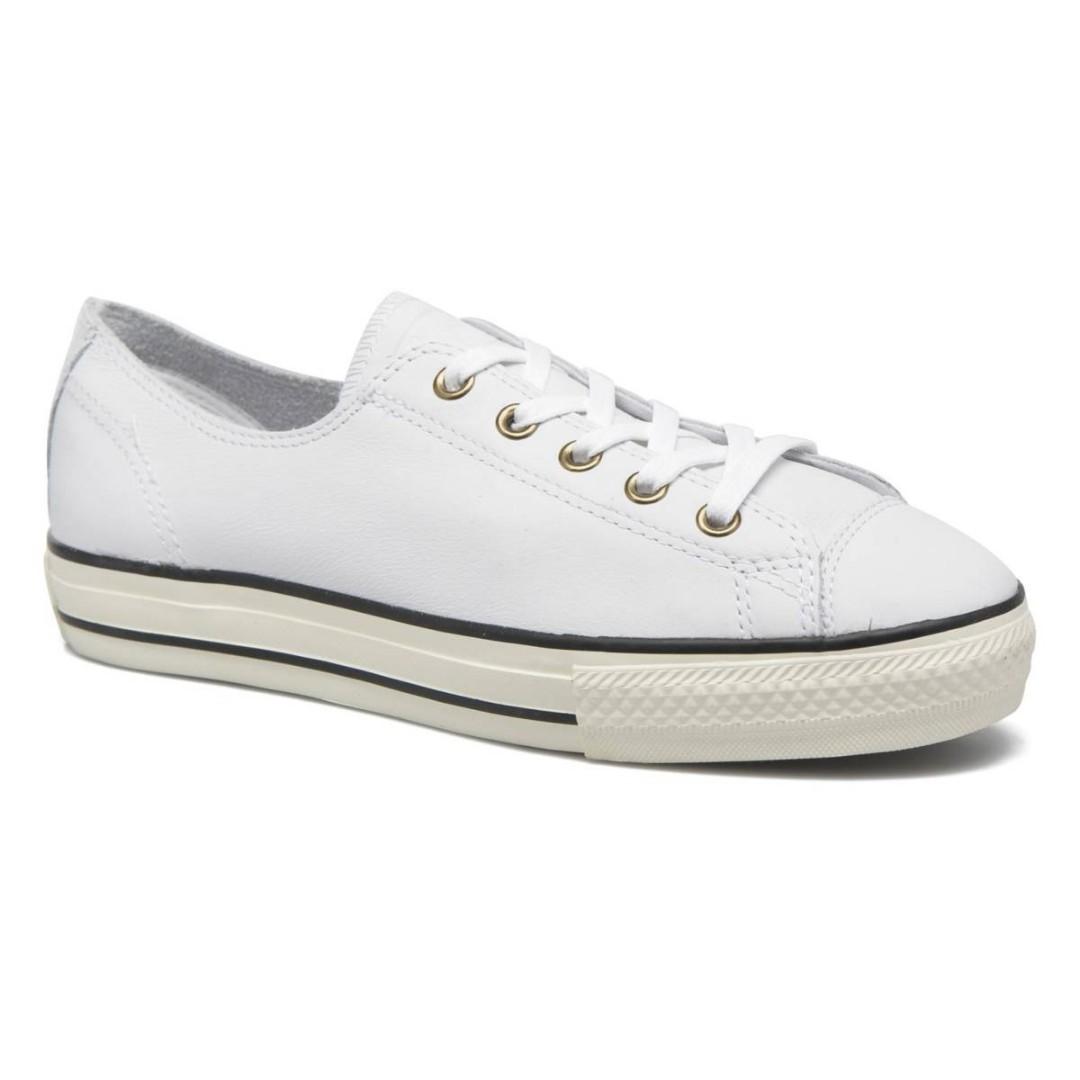 Converse ALL STAR 低筒皮革鞋 白色 匡威女生帆布鞋 公司現貨 全新