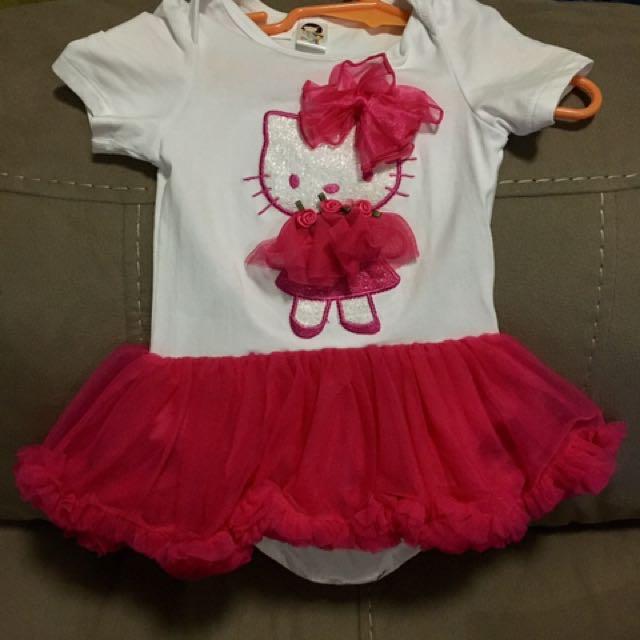 Cute Onesie Pink/White Dress TuTu Hello Kitty Bto Wto