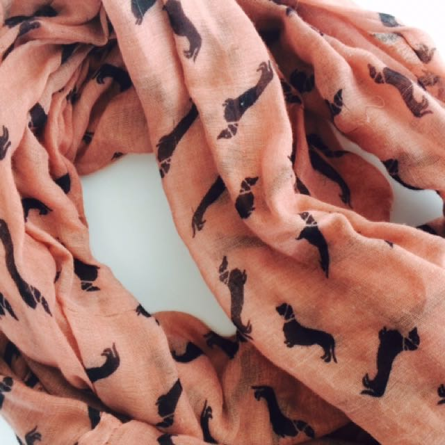 Dog Pattern Summer Scarf