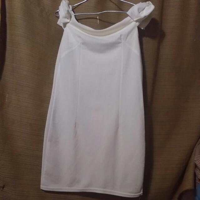 Dres Sabrina Putih