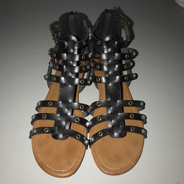 fergalicious by fergie Cute Black Studded Sandals