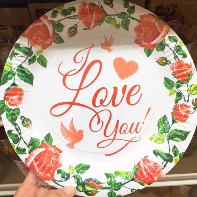 Floral Paper Plate 9inch.